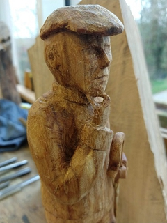 Christian festival wood carving group