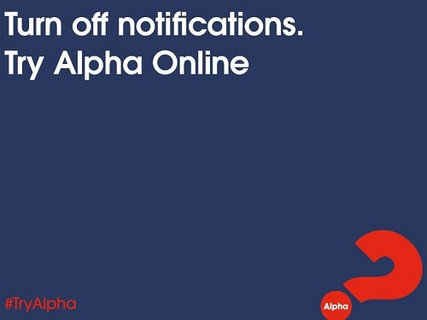 Online Alpha Course starts 2 March